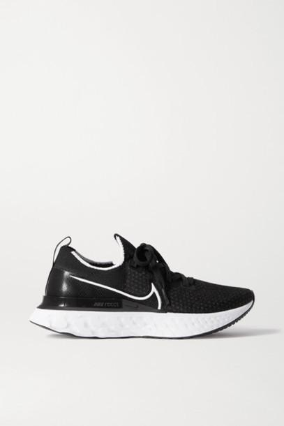 Nike - React Infinity Run Flyknit Sneakers - Black