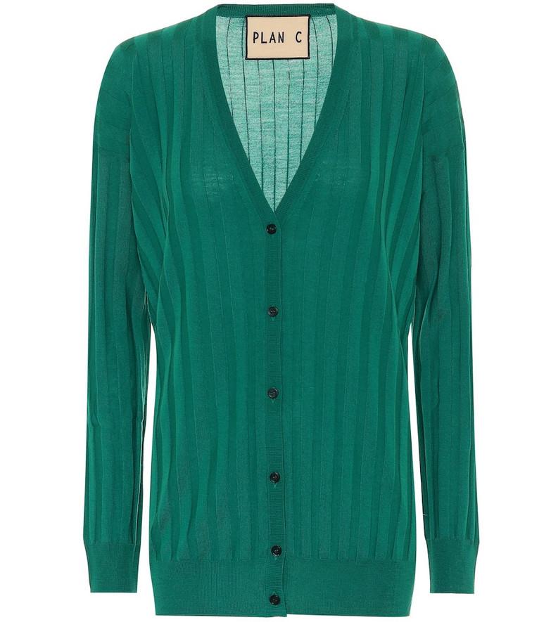 Plan C Wool cardigan in green