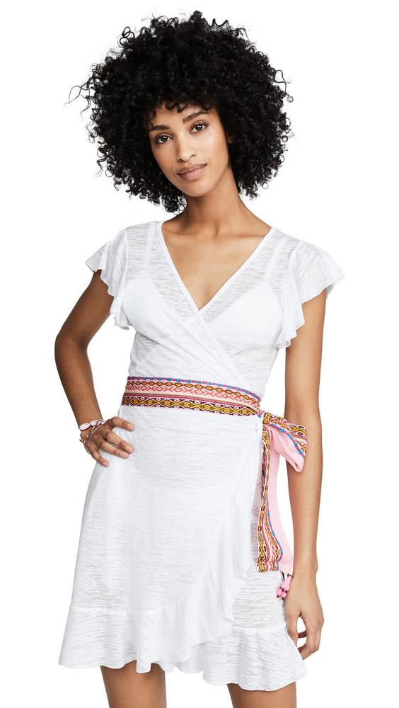 Pitusa Wrap Lllama Dress in white