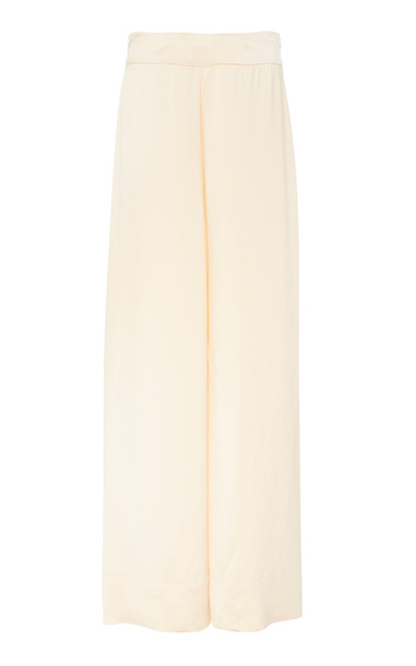ARJÉ ARJÉ Amora Oversized Satin Pants in neutral