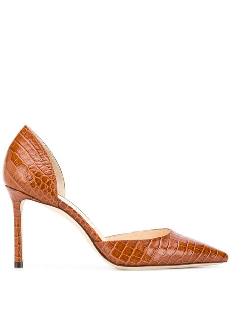 Jimmy Choo Esther 85mm pumps in brown