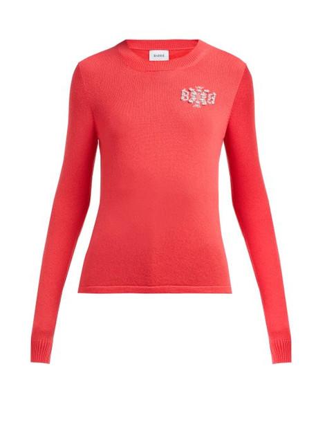 Barrie - Thistle League Bouclé Intarsia Cashmere Sweater - Womens - Pink Multi