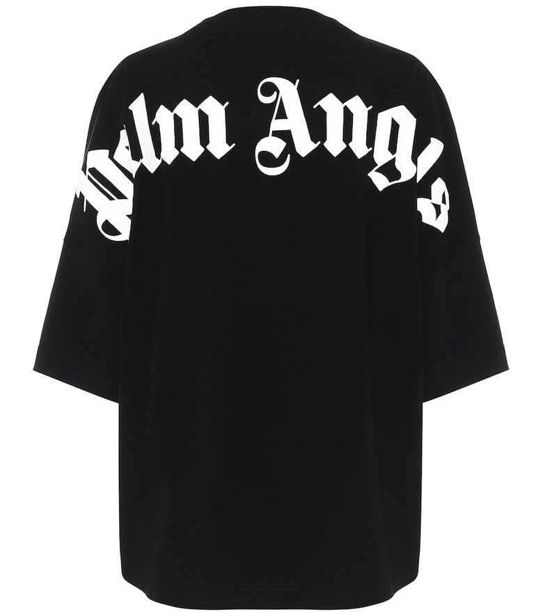 Palm Angels Logo oversized cotton T-shirt in black