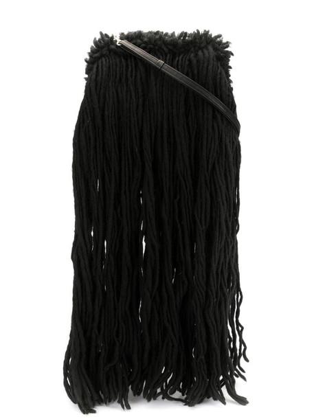 Discord Yohji Yamamoto fringed shoulder bag in black