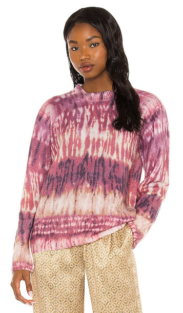 Tell Your Friends Harry Printed Cashmere Sweater in Pink