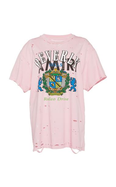 Amiri Beverly Hills Boyfriend T-Shirt in pink