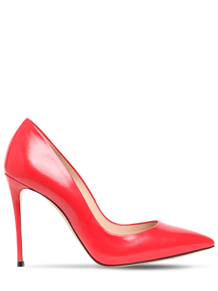 CASADEI 100mm Julia Patent Leather Pumps in red