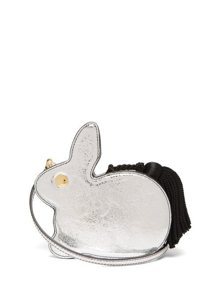 Hillier Bartley - Bunny Leather Clutch - Womens - Silver