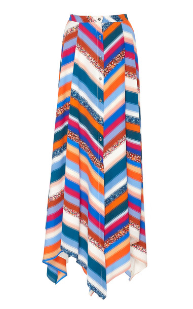 Altuzarra Aquarius Printed Silk Skirt in multi