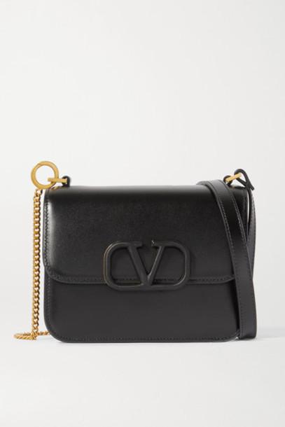 Valentino - Valentino Garavani Vsling Small Leather Shoulder Bag - Black