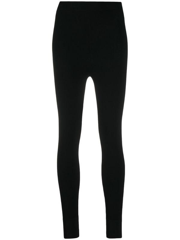 Sandro Paris high-waisted leggings in black