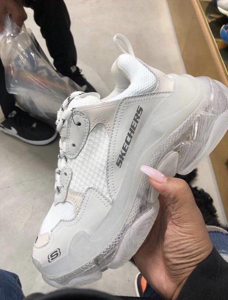 shoes, chunky, triple s, balenciaga