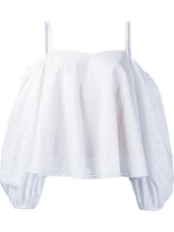 Anna October cold shoulder blouse in white