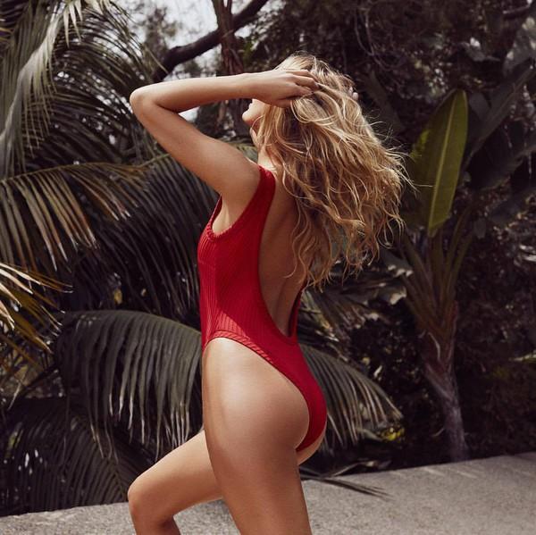 swimwear red swimwear