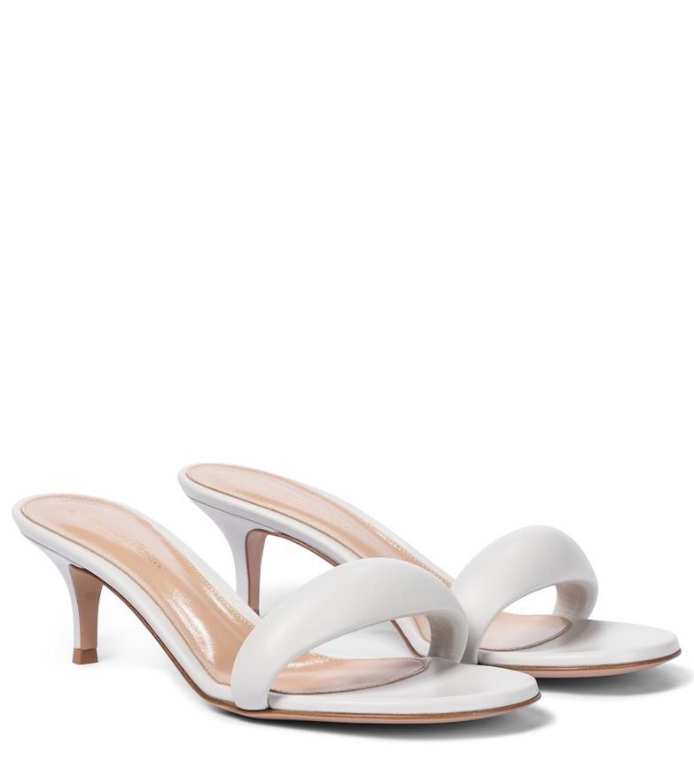 Gianvito Rossi Bijoux 55 leather sandals in white