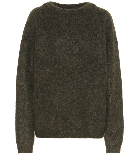 Acne Studios Dramatic wool-blend sweater in green