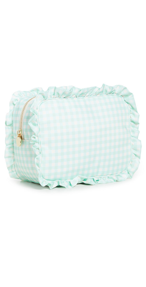 Stoney Clover Lane Ruffle Large Pouch in mint