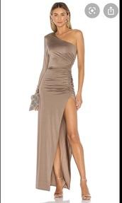 dress,grey dress,grey,gown,prom dress,revolve,long dress,long sleeves,sleeveless dress,evening dress,mauve dress,formal dress,formal,formal event outfit