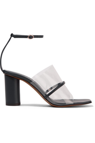 Neous - Tuber Leather And Pvc Sandals - Navy