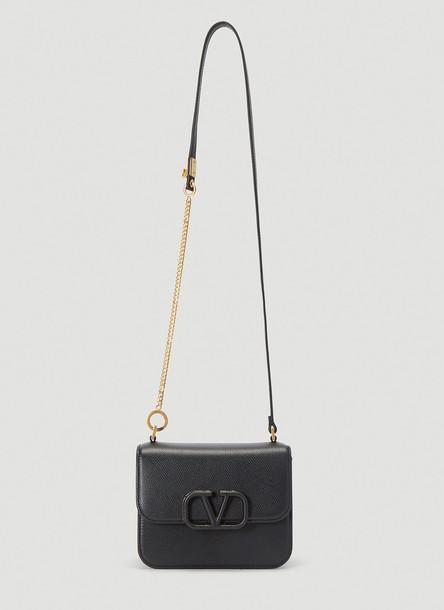 Valentino Small Vsling Shoulder Bag in Black size One Size