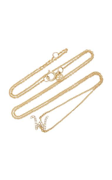 Sydney Evan 14K Gold Diamond Initial Necklace