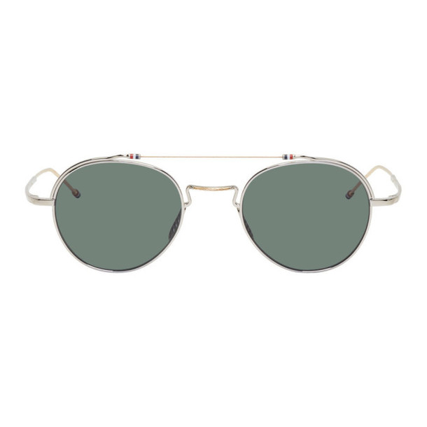 Thom Browne White Gold & Silver TBS912 Sunglasses