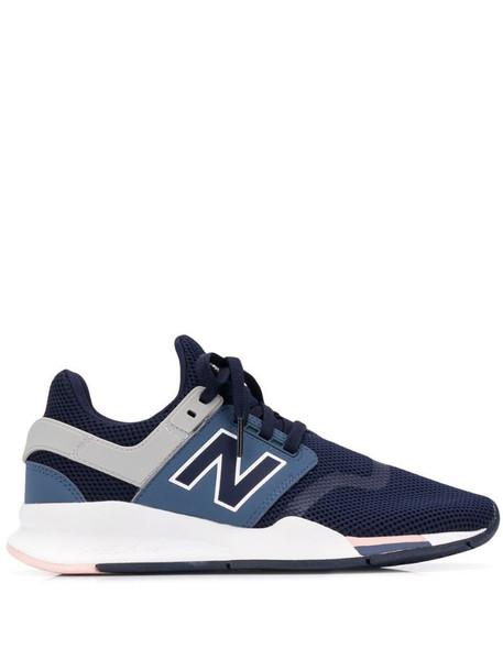 New Balance mesh low panel sneaker in blue