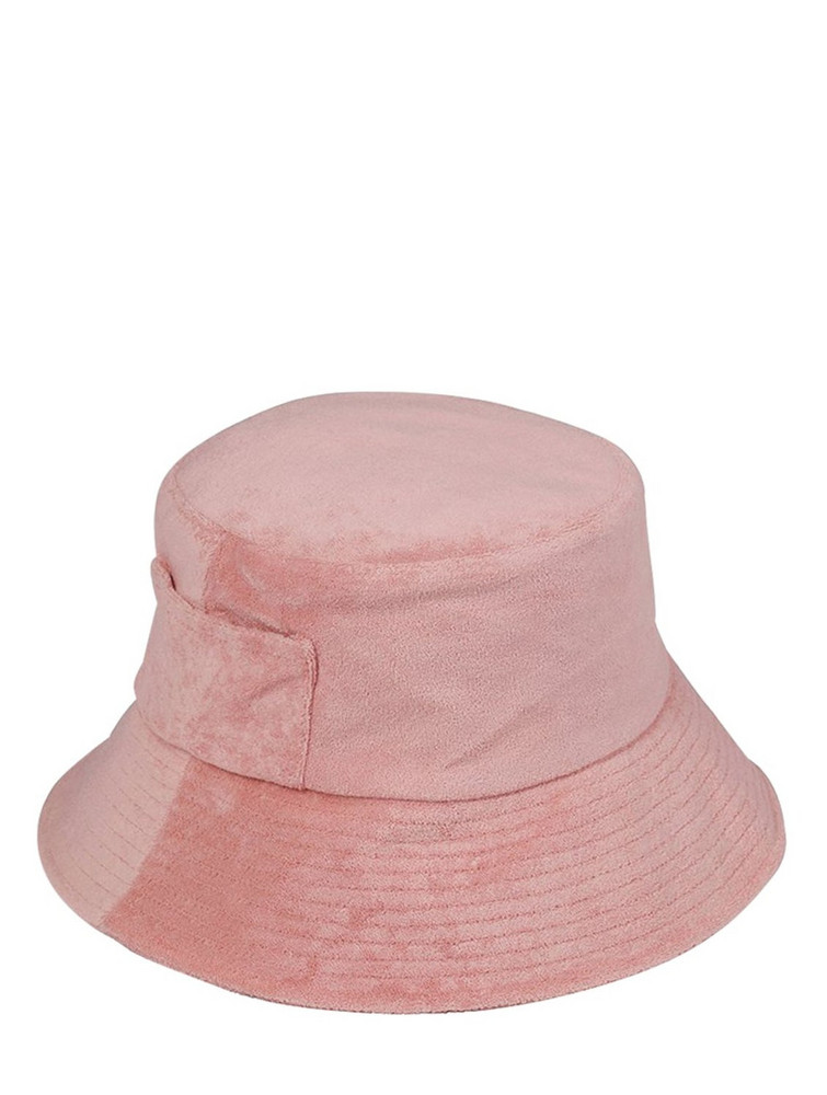 LACK OF COLOR Terry Towel Bucket Hat in pink