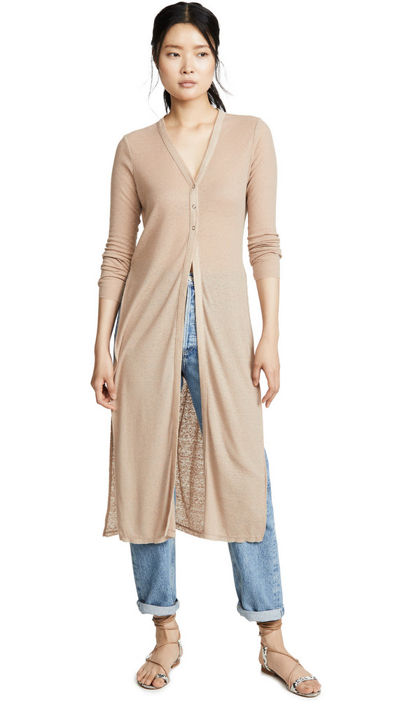 The Range Summer Duster Cardigan in sand