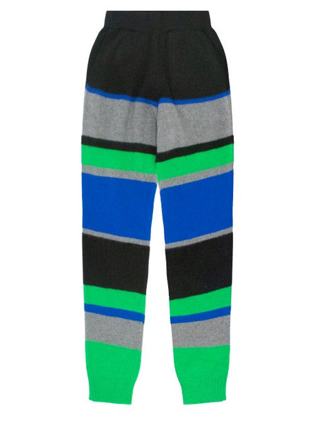 The Elder Statesman - Kirkwood Colour-block Track Pants - Womens - Green Multi