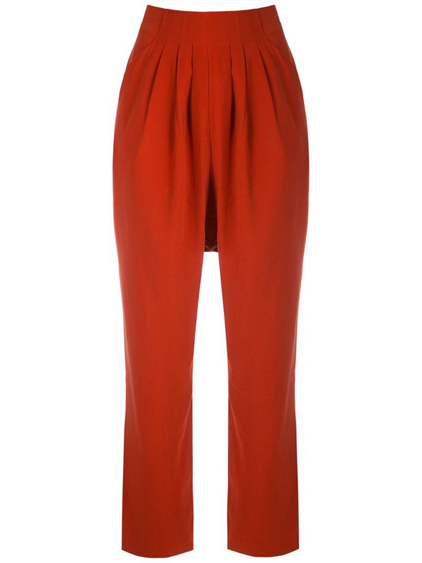 LE SOLEIL D'ETE Annelise slim trousers in red