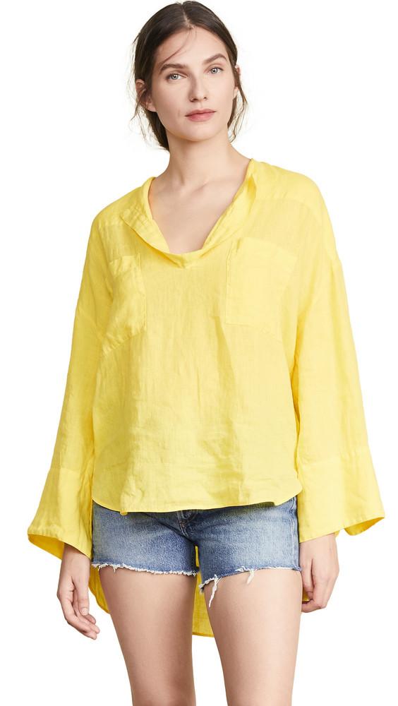 NUDE Linen Shirt in yellow