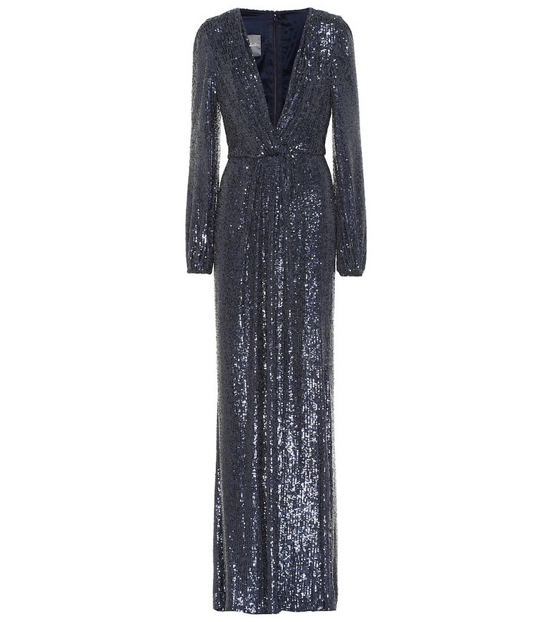 Monique Lhuillier Sequined gown in blue