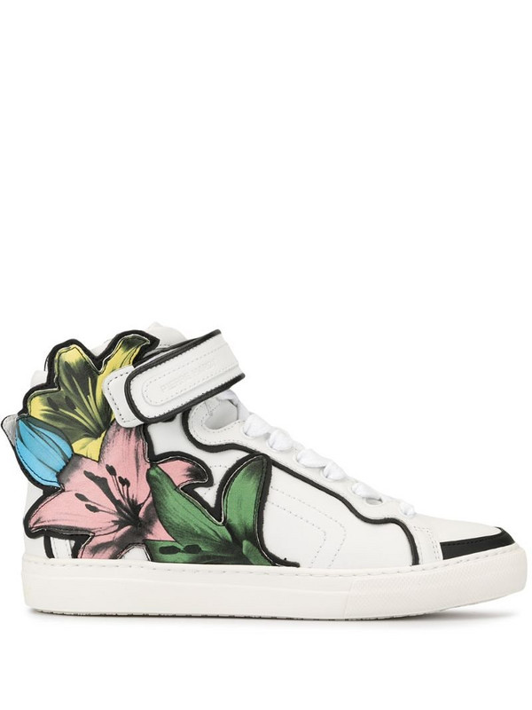 Pierre Hardy Lilyrama high-top sneakers in white