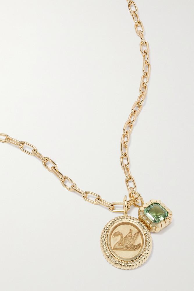 Retrouvaí Retrouvaí - Fantasy Heirloom 14-karat Gold Tourmaline Necklace - one size