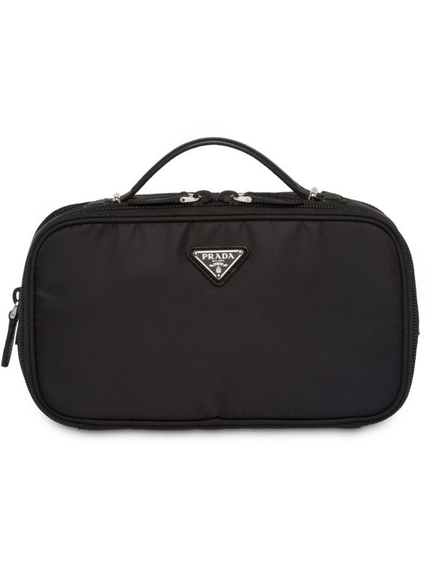 Prada cosmetic pouch in black