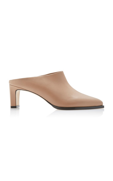 ATP Atelier Fave Leather Mules Size: 36 in neutral