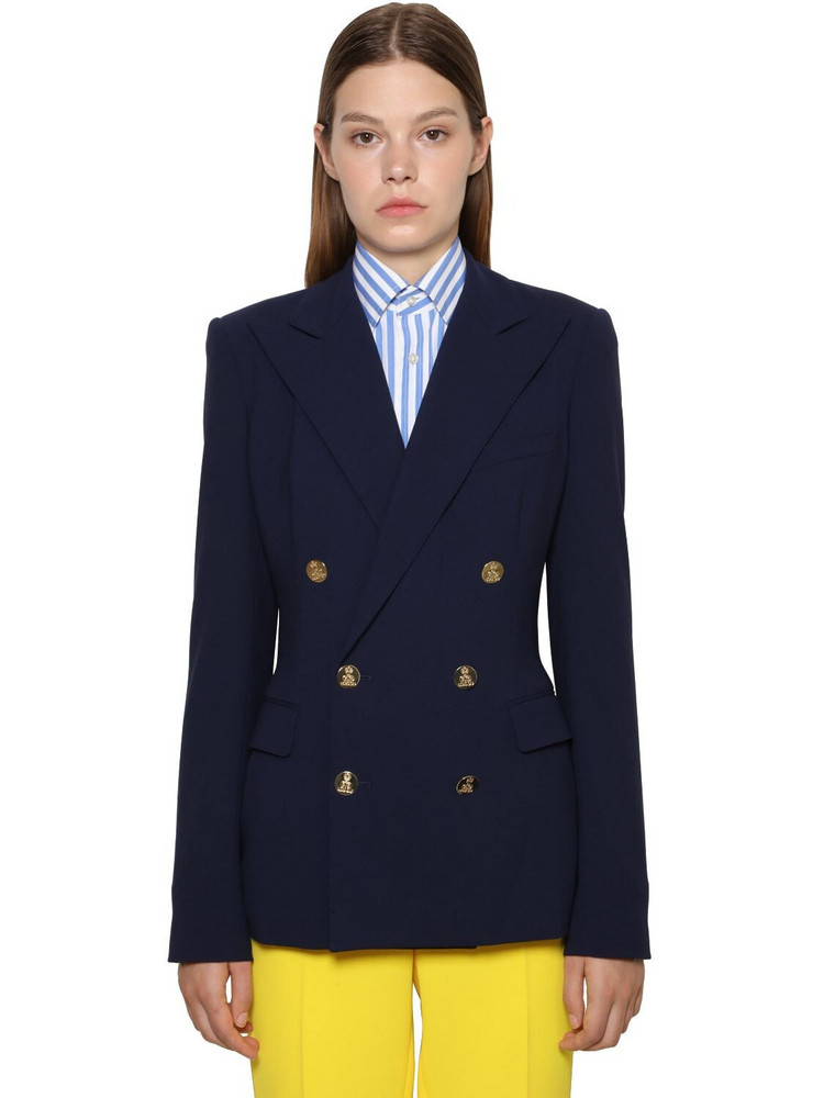 RALPH LAUREN COLLECTION Double Breasted Cashmere Camden Jacket in navy