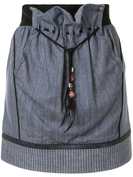 Louis Vuitton pre-owned panelled mini skirt in blue
