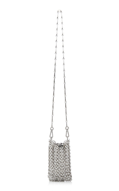 Paco Rabanne 1969 Mini X Brass Crossbody Bag in silver
