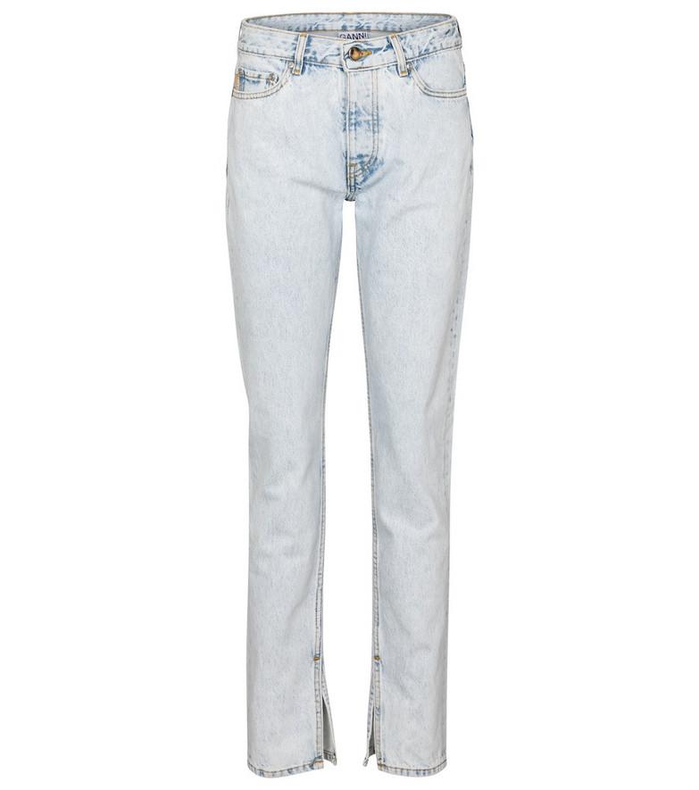Ganni High-rise slim jeans in blue
