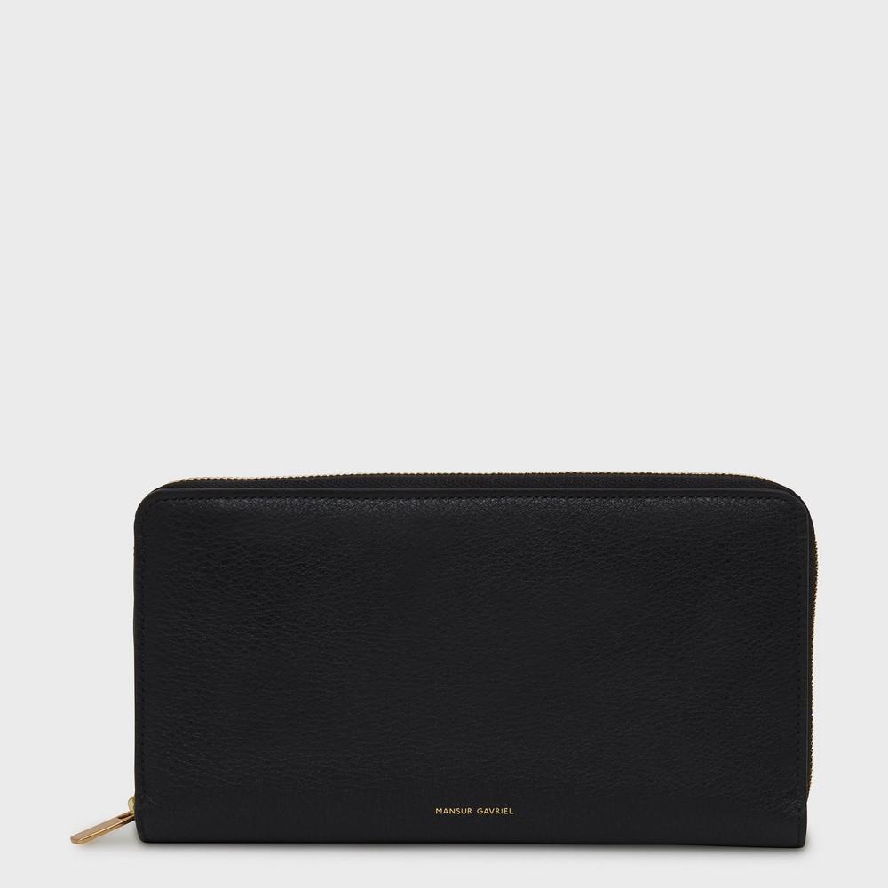 Mansur Gavriel Zip Continental Wallet - Black/Flamma
