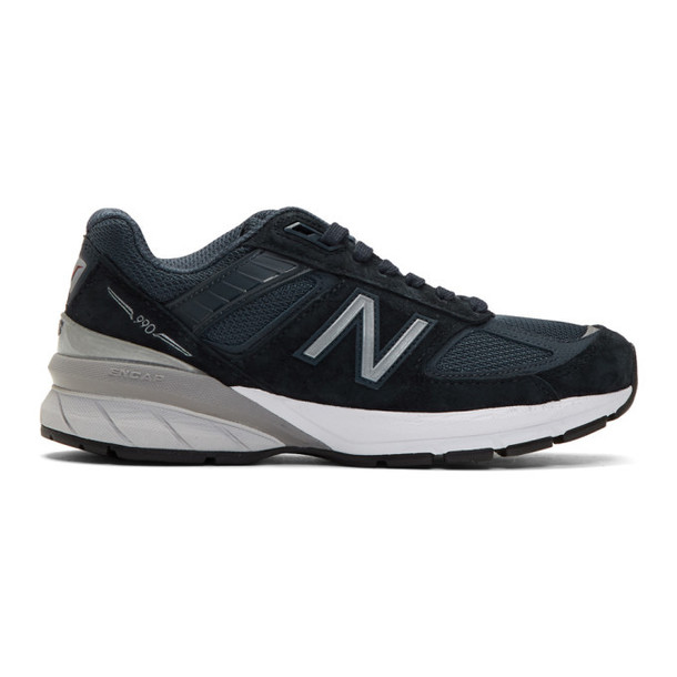 New Balance Navy 990V5 Sneakers