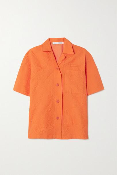 Christopher Esber - Palm Tree Cloqué Shirt - Orange