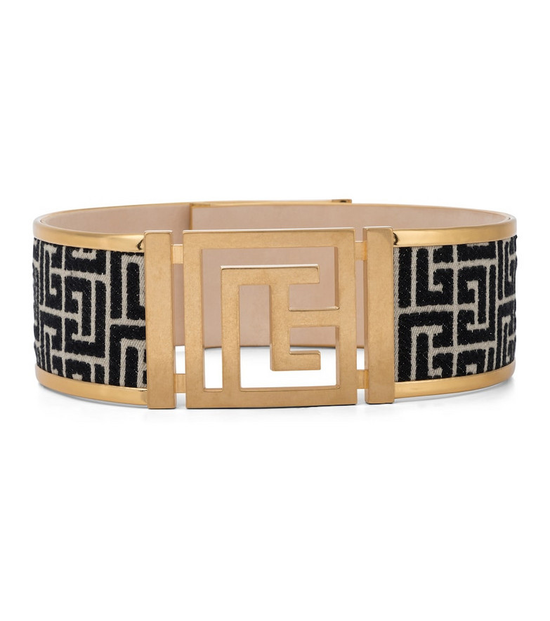 Balmain Monogram jacquard belt in black