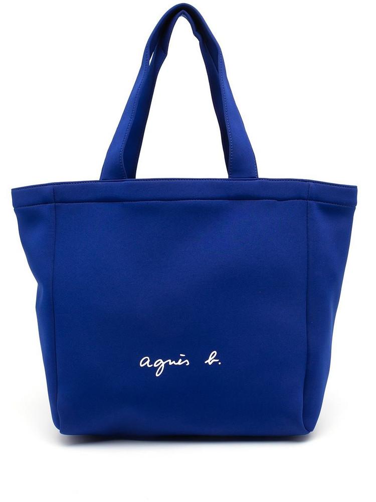 agnès b. agnès b. logo-print tote bag - Blue