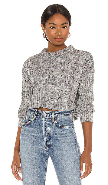 Free People On Your Side Pullover in Grey