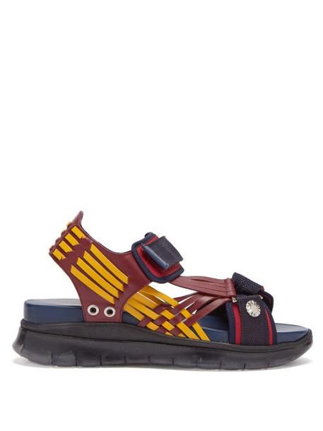 Toga - Tri Colour Nylon Strap Sandals - Womens - Navy Multi