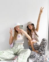pants,black and white,casual,fashion,cool girl,zebra print