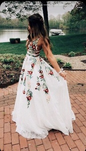 dress,white dress,embroidered,red dress,maxi dress,flowy,floral dress,beautiful